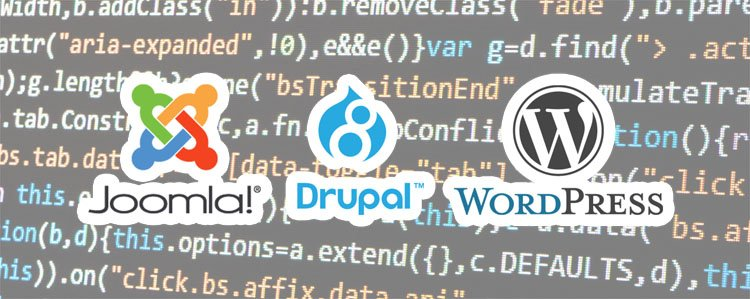 Self history with: Joomla, Drupal and WordPress