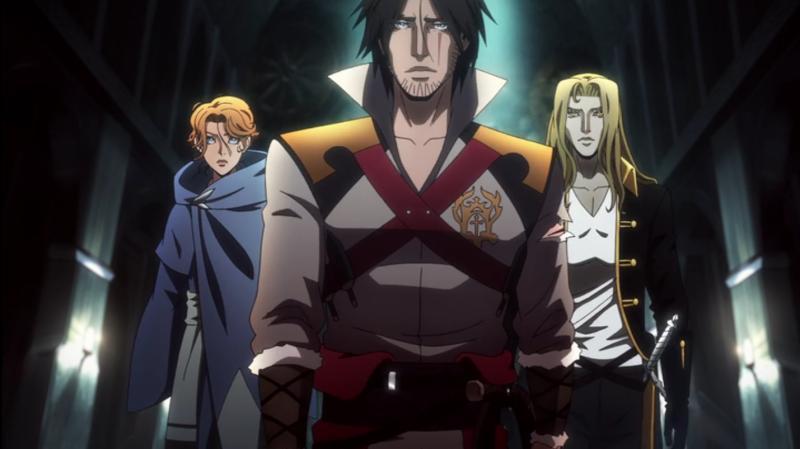 Los heroes principales en Castlevania de Netflix