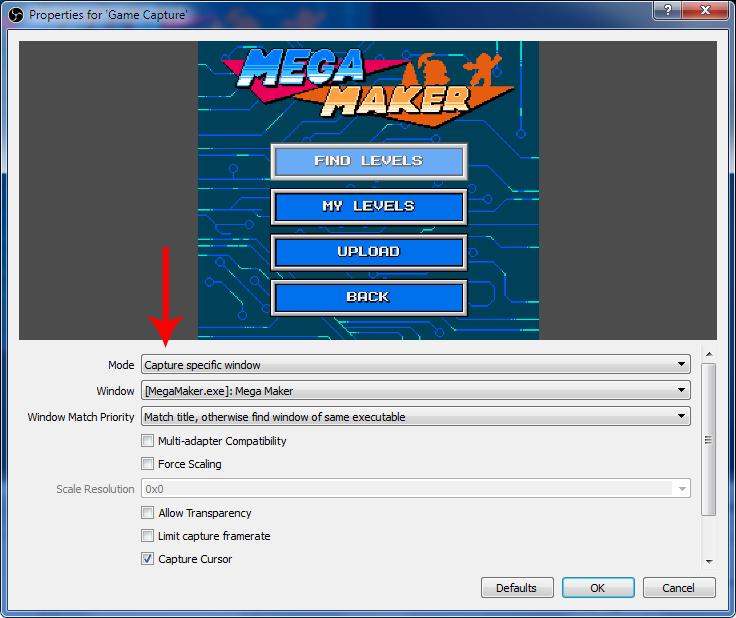 como hacer streaming, configurando la captura del videojuego