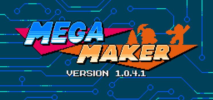 Imagen del título de Mega Maker. El juego de fans de mega man para fans.