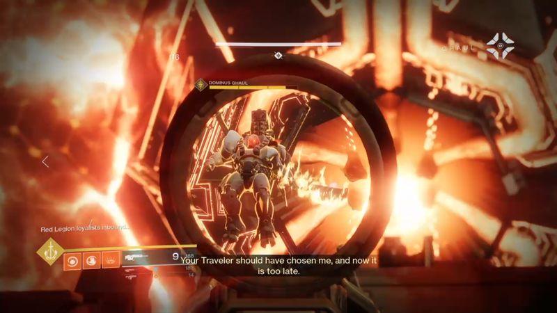 Imagen de Dominus Ghaul, en la última batalla ... con the Traveler de fondo