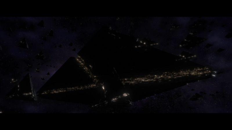 Imagen de naves en forma de piramide. Posiblemente de un nuevo enemigo en Destiny 2