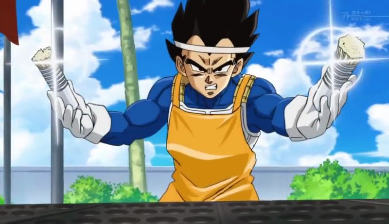 Vegeta es usado constantemente como elemento comido de Dragon Ball Super