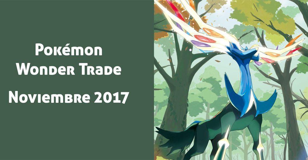 Pokémon Wonder Trade Noviembre 2017