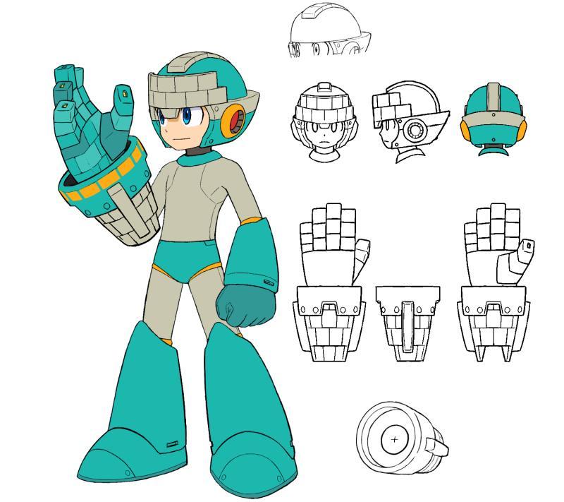 En esta imagen de Mega Man 11, se muestra que las armas cambiaran la apariencia de Rockman