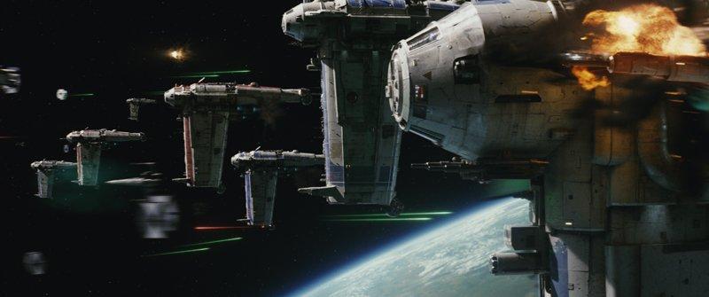 Imagenes de unos bombarderos en The Last Jedi. Propiedad de Disney.