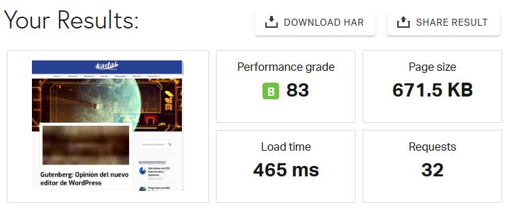 Prueba de desempeño del sitio web con Swift Performance Lite