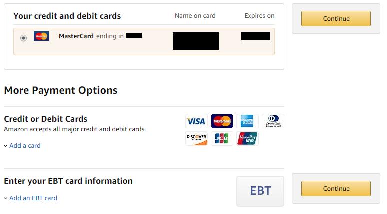 Compras en Amazon: No acepta PayPal