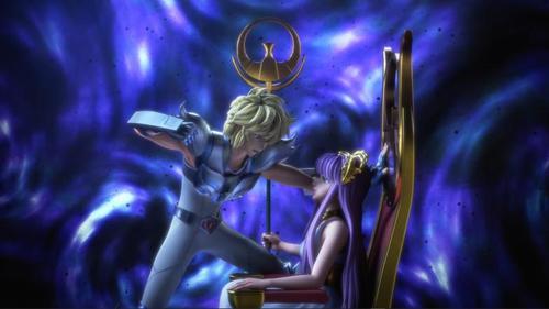 Hyoga y Athena
