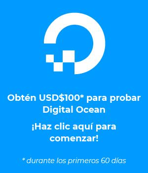Obtén USD$100 para probar Digital Ocean por 60 días